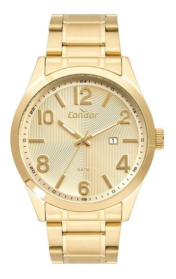 Relógio Condor Masculino Dourado Original Com Promoção Nf 4d