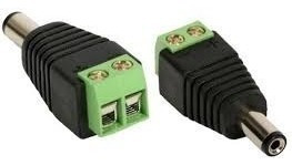 Kit 10 Adaptador Conect Borne X Plug P4 Macho P/ Cftv Câmera