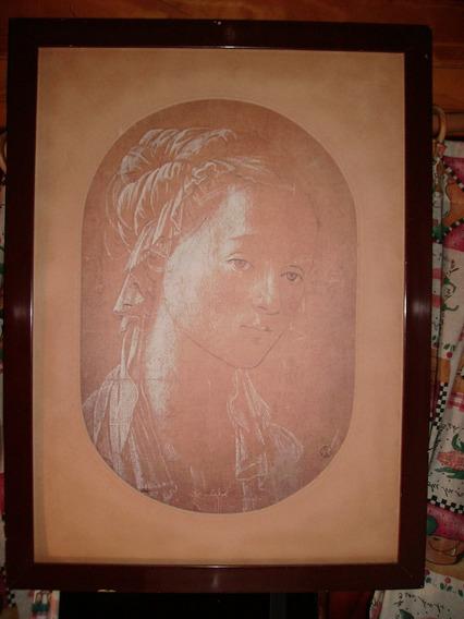 Cuadro Lámina Texturada Filippo Lippi Galería Uffizi