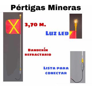 Pértigas Para Camionetas Mineras - Pertiga Luz Led Minería