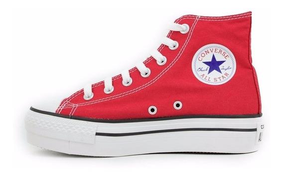 Zapatillas Chuck Taylor All Star Plataforma Hi Rojo 557142c