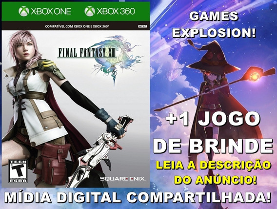 Final Fantasy Xiii 13 Xbox 360/ One +1 Jogo - Mídia Digital