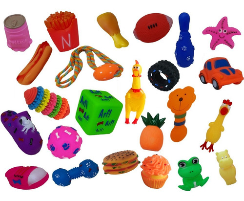 Kit Mordedor Pet 8 Brinquedos De Borracha Para Cães Cachorro