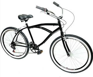 Bicicleta Retro Aro 26 Beach Caiçara Pneu Faixa Branca Fret