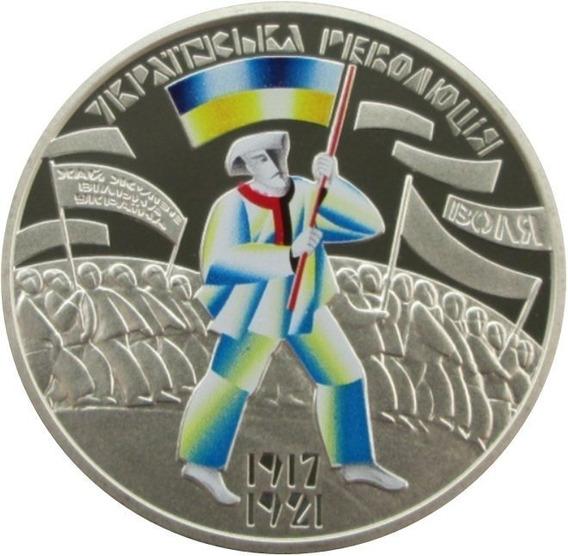 Moneda 5 Hryvnia 100 Aniv. Revolución Ucraniana 1917-1921