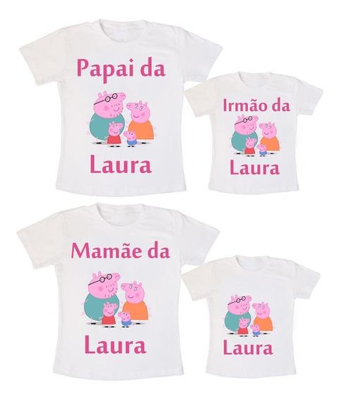 Kit 4 Camisetas Pepa Ping