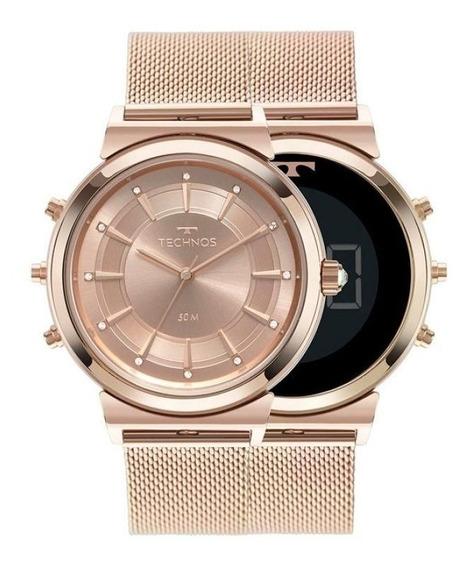 Relógio Technos Feminino Curvas Rosé Mod 9t33ac/4j Original