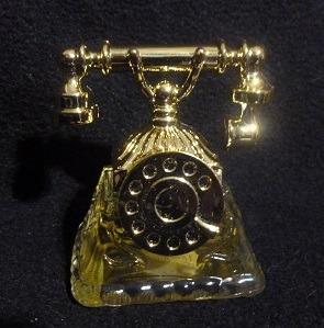 Perfumero Telefono Antiguo - Con Su Caja Y Contenido