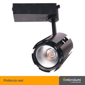 Spot Luminaria De Led P/trilho Eletrificado Cob 20w X 2 Unid