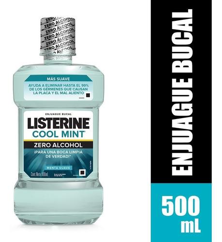 Enjuague Bucal Listerine Zero Menta Suave X 500ml