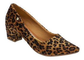 Sapato Feminino Scarpin Salto Baixo Grosso Confort   P02.scp