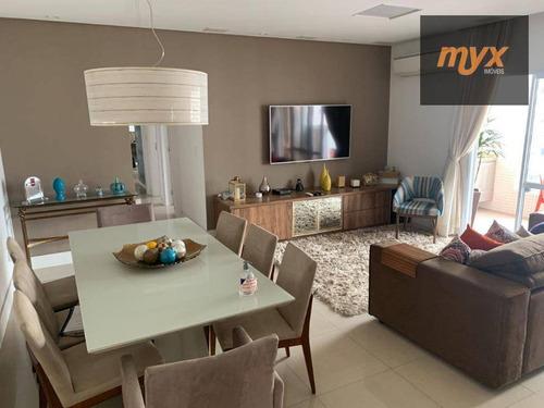 Apartamento Com 3 Dormitórios À Venda, 124 M² Por R$ 850.000,00 - Centro - São Vicente/sp - Ap6033