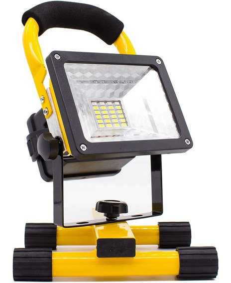 Lanterna Refletor Led Recarregável Holofote 30w Prova D
