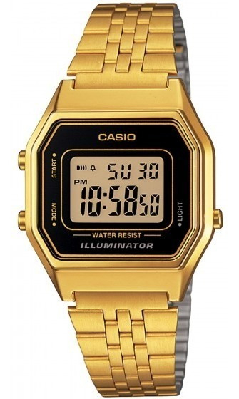Relógio Casio La680wga-1df Dourado Digital Retrô - Refinado