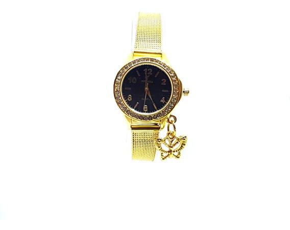Relógio Feminino Vintage Retro Pequeno Delicado Strass