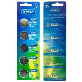 Kit Com 10 Cartelas Bateria Placa Mae 2032 Knup (com 5 Un)