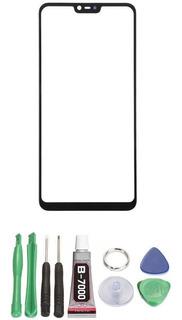 Cola + Tela De Vidro Sem Touch Original Xiaomi Mi 8 Lite