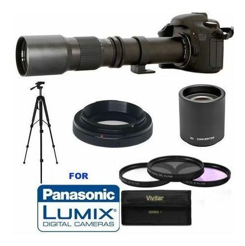 Imagen 1 de 8 de Lente 500mm / 1000mm Para Panasonic Lumix Gh5 Gh4 Gh3 Gx8...