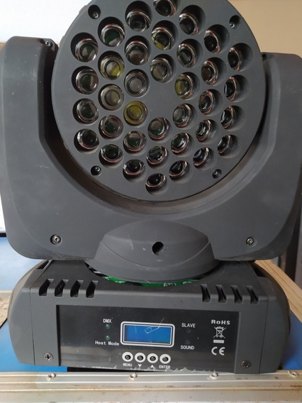 Kit 2 Moving Head Beam 36 Leds Cree De 5w Rgbw Dmx Strobo