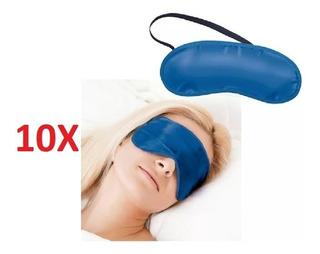 Kit 10 Máscara Dormir Venda Tapa Olhos Durma Bem Viagem Sono