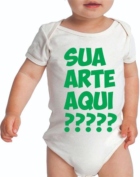 2 Body Bebê Ou Camiseta Infantil Personalizado Sua Arte