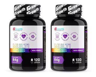 Multivitamínico Growth Original Kit 240 Cápsulas 700mg