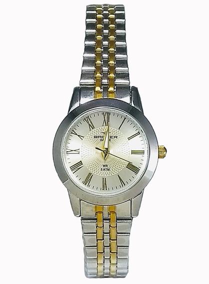 Relógio Backer Feminino 10216123f Br Prata