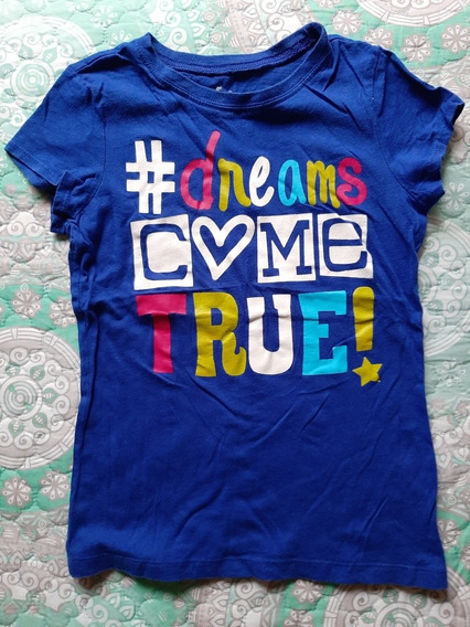 Playera Dreams Come True De Niña Place Talla M 7/8