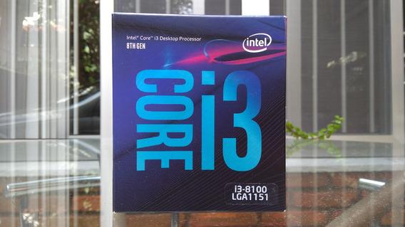 Caixa De Processador Core I3-8100 Lga1151 - Compl. Com Selo