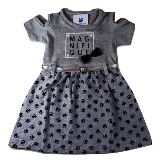Vestido Bebe Menina Infantil Cotton Roupa Verão 1 A 3 Anos
