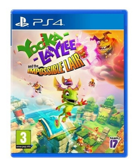 Yooka Laylee And The Impossible Lair Ps4 Midia Fisica