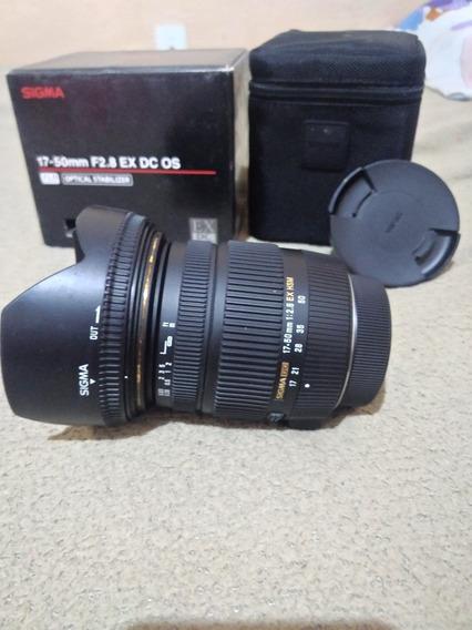 1.200 Lente Sigma 17-50 2.8 Pra Nikon Com Foco Bem Cravadinh