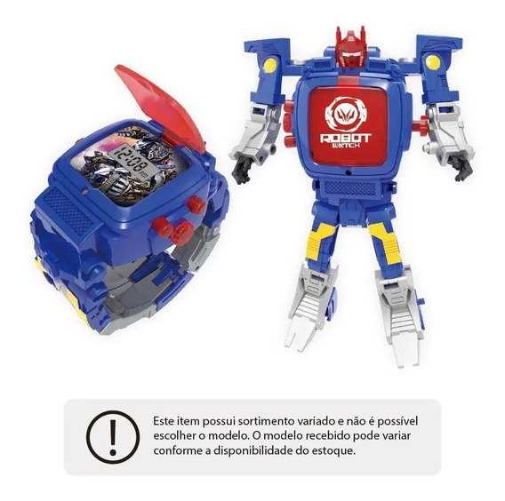 Robot Watch Relógio + Robô Sortido Ag13 Multikids Br498