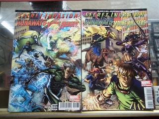 Comic Secret Invasion Runaways/young Avengers 2 Y 3
