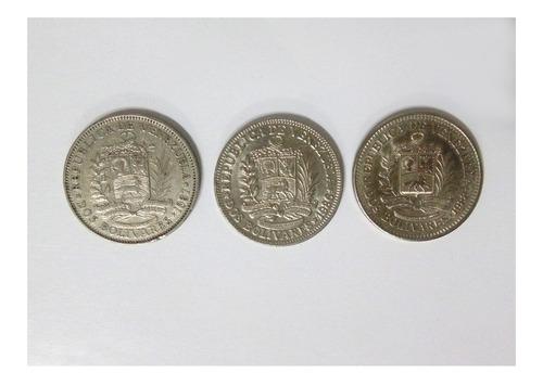 Imagen 1 de 1 de Monedas Niquel 2 Bolivares 1967 1986 1988