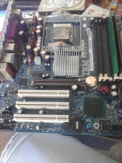 Placa Mãe De Pc Antigo Ibm 2.4 Processador Intel