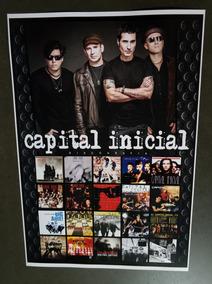 Poster De Coleção Capital Inicial Cd Capital Inicial Sonora