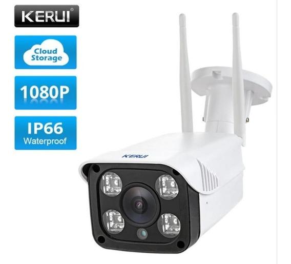 Câmera Segurança Ip Wifi 1080p Kerui Ip66 Visão Noturna