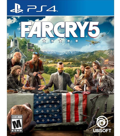 Ps4 Far Cry 5 Mídia Física Novo Lacrado - Dublado Em Português