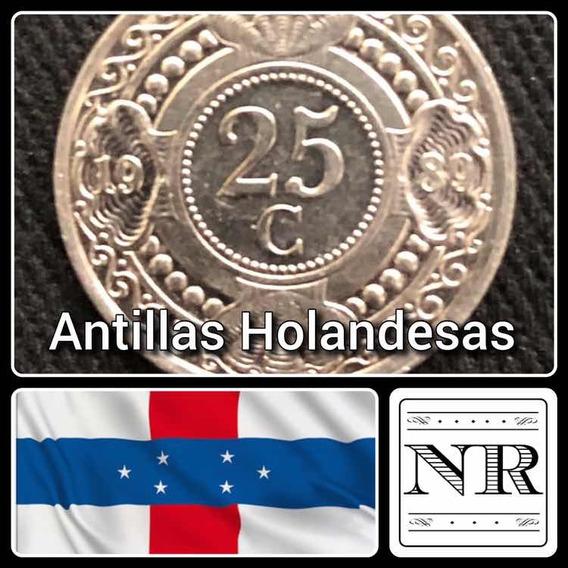 Antillas Holandesas - 25 Cents - Año 1989 - Km # 35