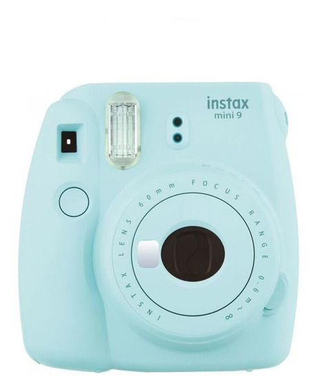 Câmera Instax Fujifilm Mini 9 Azul Aqua + 60 Poses