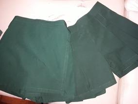 4a6db6bc9 Lote 12 Prendas Uniforme Verde Pantalones Polleras 8/10 Años