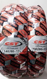 Llantas Cst 140/60-17 + 100/80-17 Magsport No Usa Camara