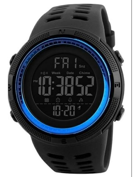 Relógio Digital Original Skmei 1251 Azul C/ Caixa Acrílica