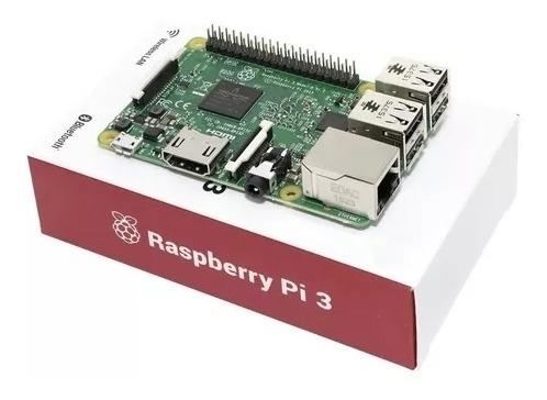 Placa Mãe Raspberry, Pi 3 B Quad-core 1.4ghz, 1gb Ram, Wi-fi