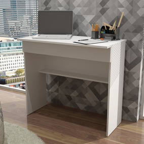 Mesa De Computador/escrivaninha Bho 21 - Branco