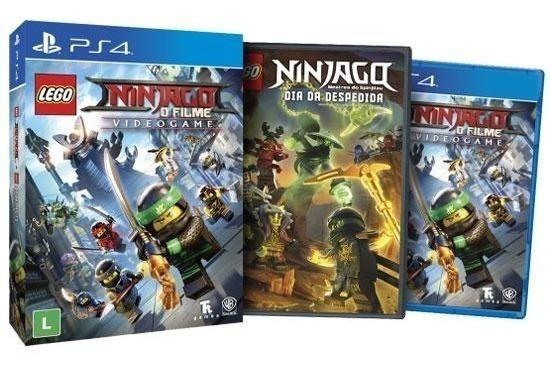 Lego Ninjago Videogame + Filme Blu-ray Ps4 Mídia Física