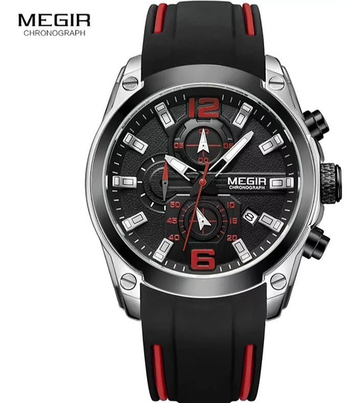 Relógio Megir 2063 Masculino Todo Funcional Esporte Casual