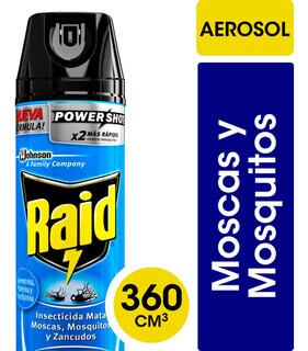 Aerosol Mata Moscas Y Mosquitos Raid 360 Ml