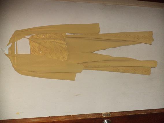 Conjunto De Dama Pantalon, Corset Y Pashmina Elegante
